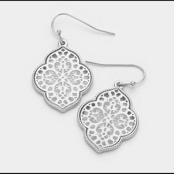 Moroccan Filigree Silver Earrings